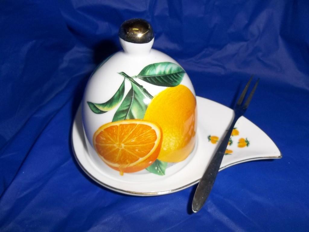 54-371  Лимонница с фигурной вилкой  Лимон оптом