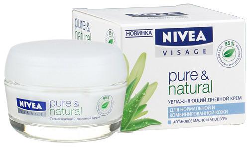 Увлажняющий дневной крем Pure & Natural от NIVEA