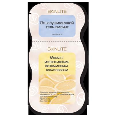 Оздоравливающий комплекс для лица: скраб + маска SL-218