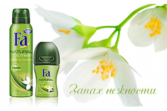 Fa Natural&Fresh, дезодорант Свежесть жасмина