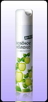 Освежитель воздуха ДО-РЕ-МИ Сухое распыление Зеленое яблоко 330 мл оптом.
