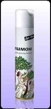 Освежитель воздуха ДО-РЕ-МИ Сухое распыление Лимон 330 мл оптом.