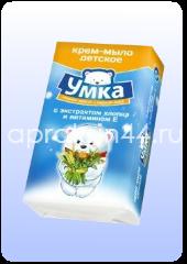 УМКА Детское мыло Хлопок и витамин Е 80 г оптом.