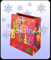 Бумажный подарочный пакет ДЕНЬ РОЖДЕНИЯ 23 х 18 х 10 см оптом. Артикул - TZ-9474.