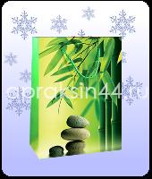 Бумажный подарочный пакет EXOTIC FLOWERS (Экзотические цветы) 26 х 32 х 10 см оптом. Артикул - TZ-6566.