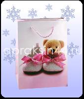 Бумажные подарочные пакеты ДЕТСКИЕ 20 х 29 х 7 см оптом. Артикул - TZ-6581.
