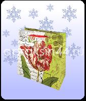 Бумажный подарочный пакет САДОВЫЕ ЦВЕТЫ 36 х 35,5 х 13 см оптом. Артикул - TZ-6602.