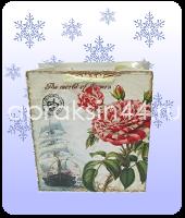 Бумажный подарочный пакет САДОВЫЕ ЦВЕТЫ 28 х 28 х 11,43 см оптом. Артикул - TZ-6603.