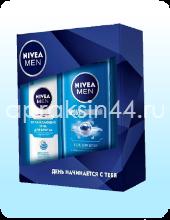 Подарочный мужской набор Nivea (Нивея) Гель для бритья Охлаждающий + Гель для душа Пробуждающий оптом.