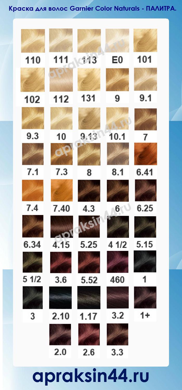 Безаммиачная краска для волос гарньер палитра цветов фото